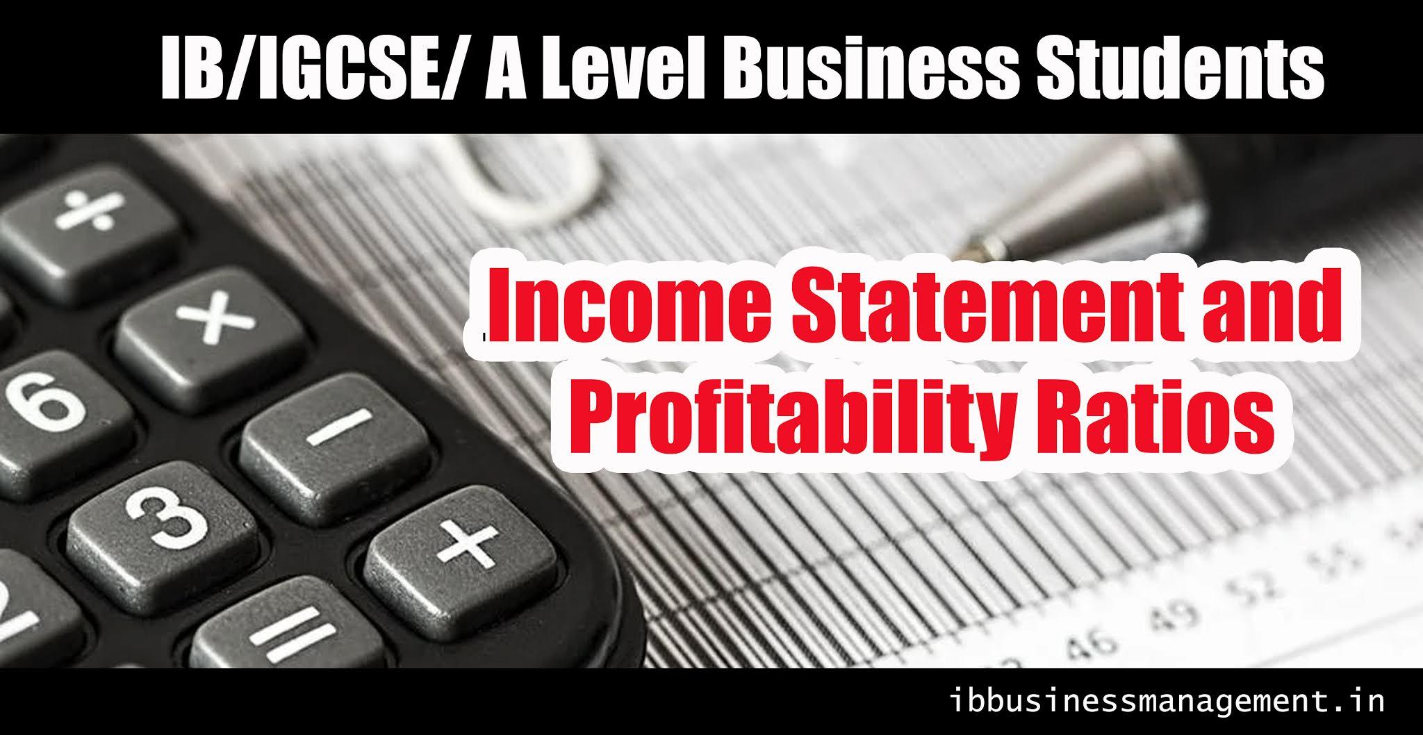Income Statement and Profitability Ratios workshet for IB, IGCSE, A Level  Business students