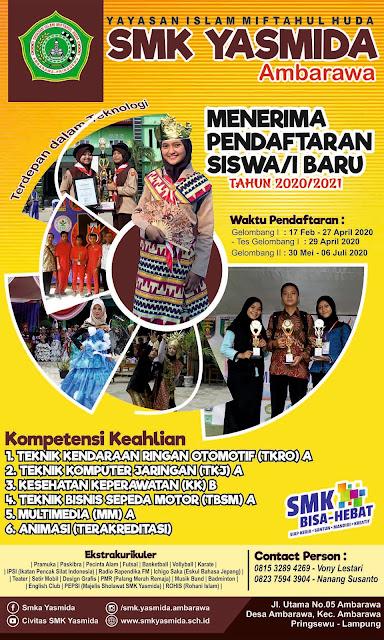 Desain Baliho PPDB SMK Yasmida Ambarawa 2020 #2
