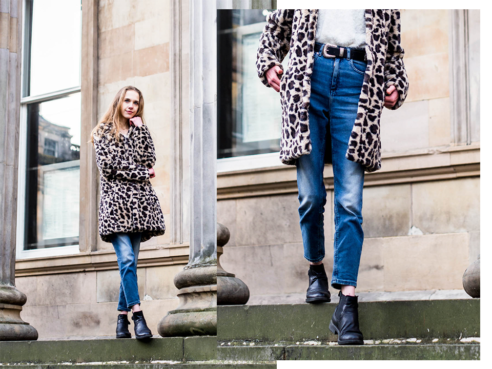 Fashion blogger winter outfit with leopard coat - Muotibloggaaja, talvimuoti, leoparditakki