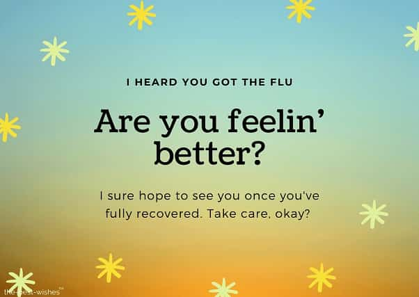 get well soon messages for flu