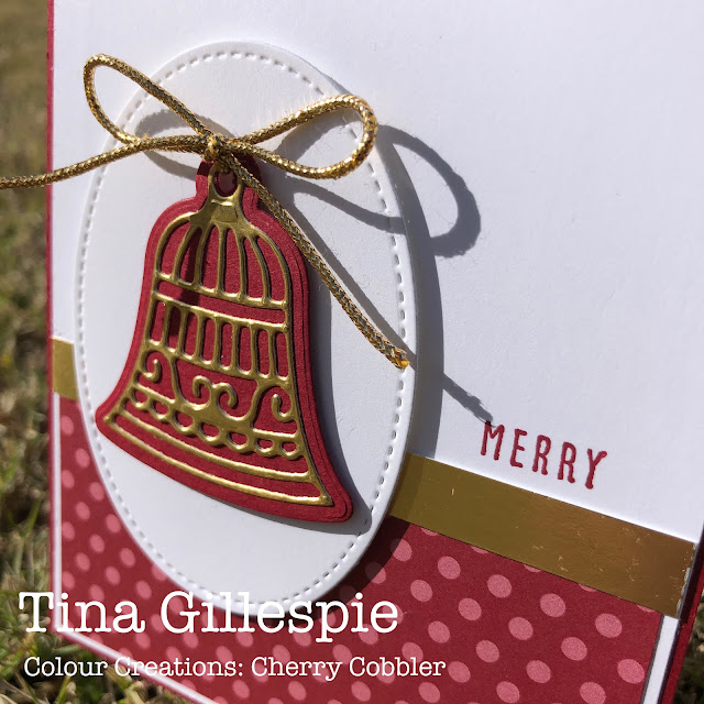 scissorspapercard, Stampin' Up!, Colour Creations, Gingerbread Dies, Christmas To Remember, Stitched Shapes Dies, Regals DSP, Gold Foil, Christmas Card