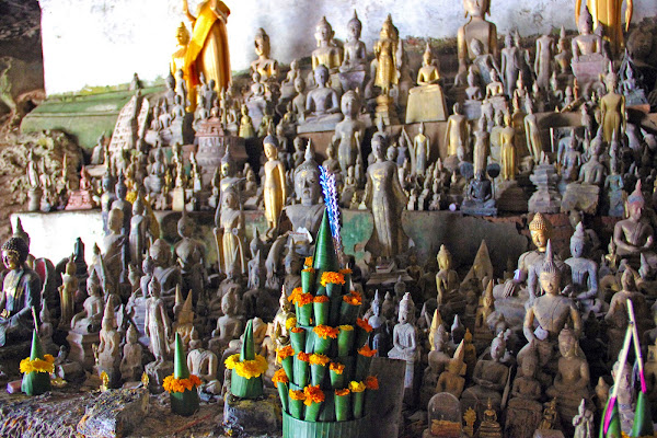 Buddhas in Pak Ou Caves - Luang Prabang
