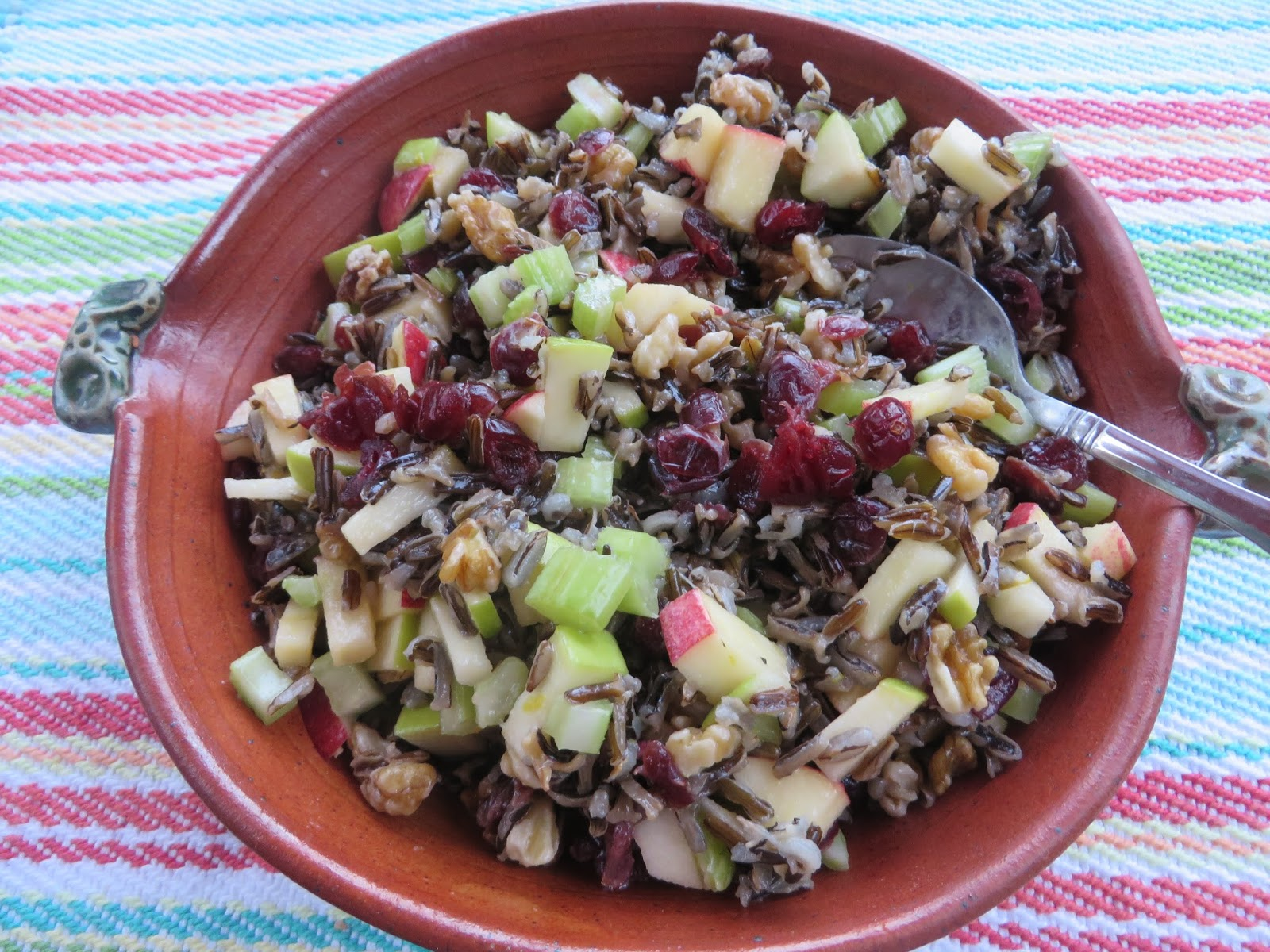 Wild Rice Salad with Apples, Celery and Cranberries