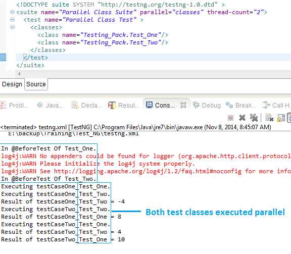 Executing Selenium WebDriver Test Classes Parallel Using TestNG