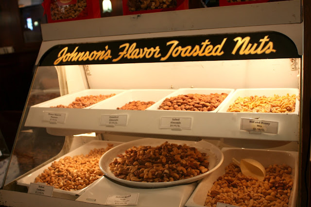 Toasted nuts at Lagomarcino's