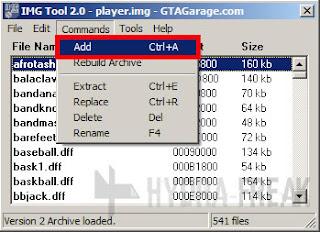 Cara menambah berkas dengan IMG Tool 2.0