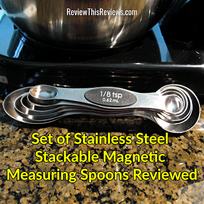 Set of Stainless Steel Stackable Magnetic Measuring Spoons Reviewed