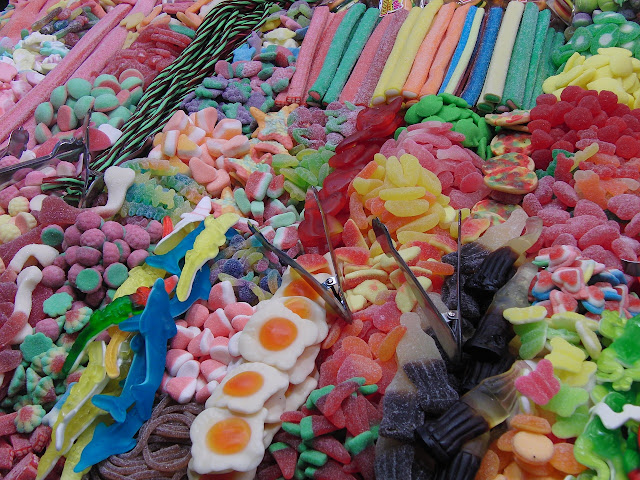 Chuches, dulces, golosinas, carbohidratos, azúcares