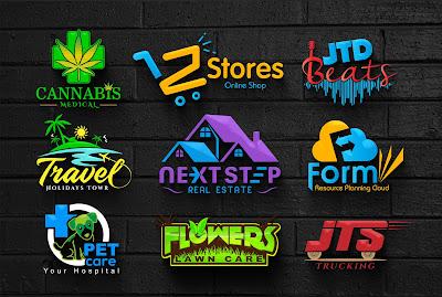 Fiverr I Will Do Unique And Professional 3d Logo Design