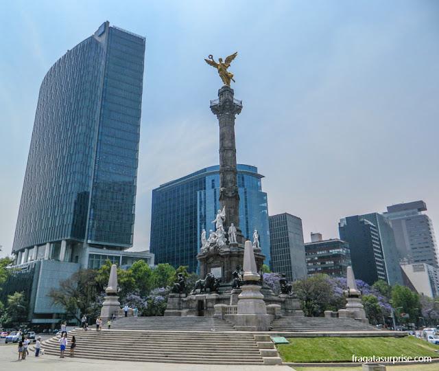 O Anjo da Independência no Paseo de la Reforma, Cidade do México - Anjo da Independência