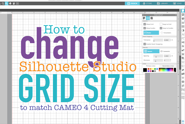 silhouette studio, page setup panel, silhouette cameo tutorials, Grid Size, Silhouette software