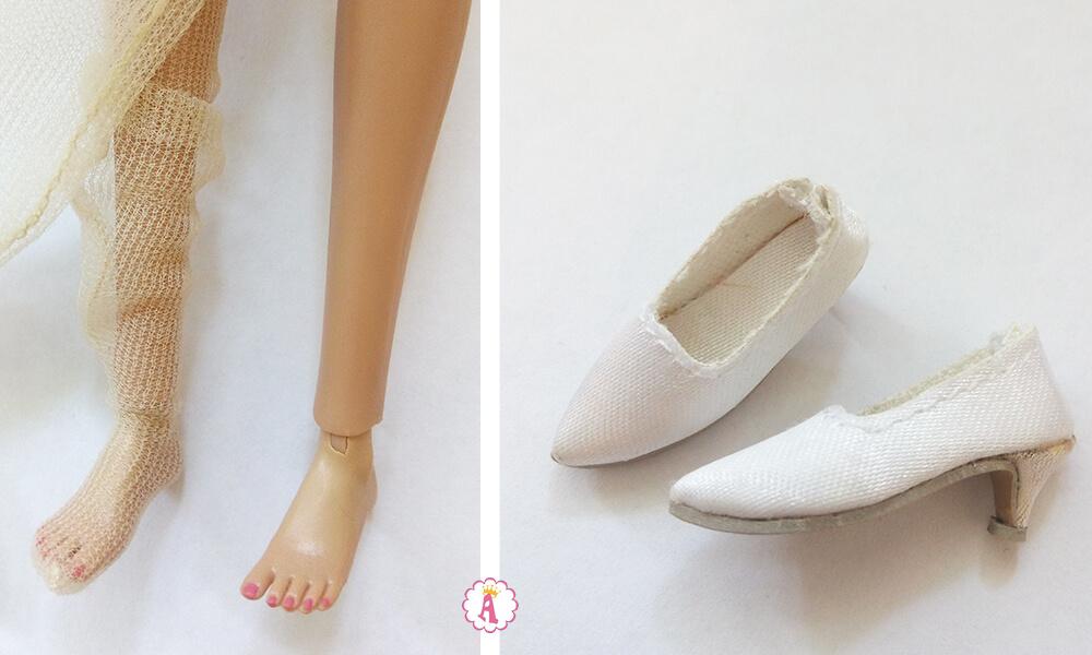 Ступня куклы Поппи Паркер и обувь невесты Poppy Parker Wedding Belle
