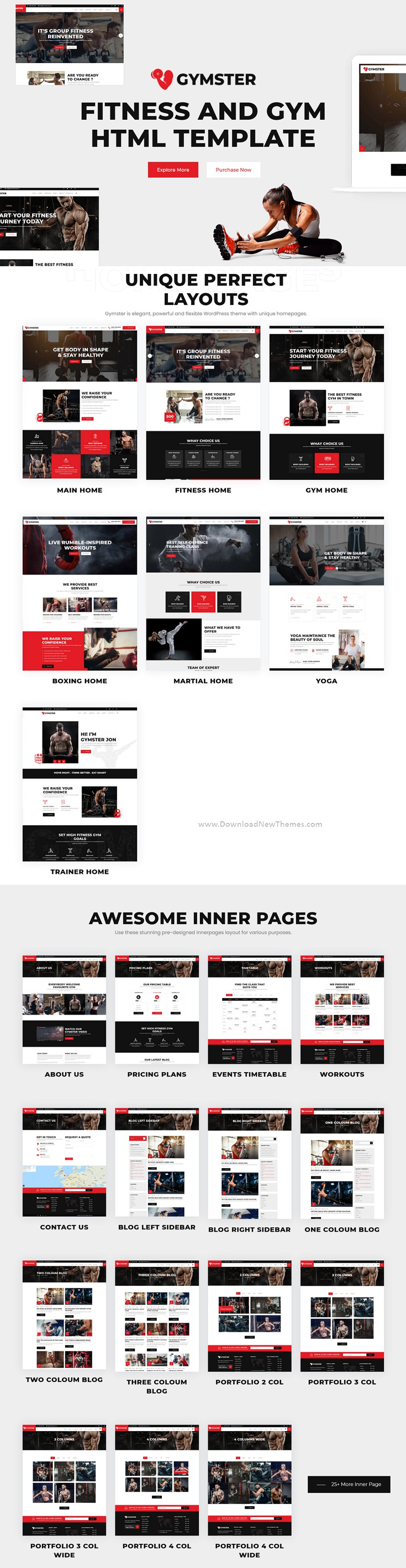 Fitness and Gym HTML5 Template
