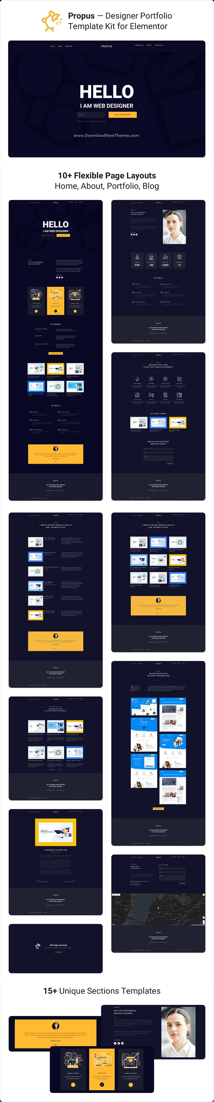 Web Designer Portfolio Elementor Template Kit