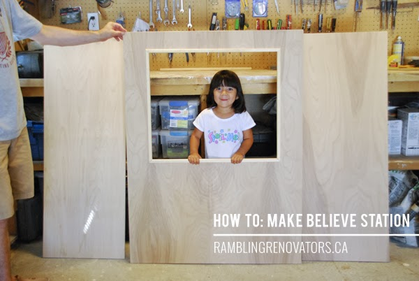 diy playhouse, plywood craft, diy kids toys, make believe, imagination station