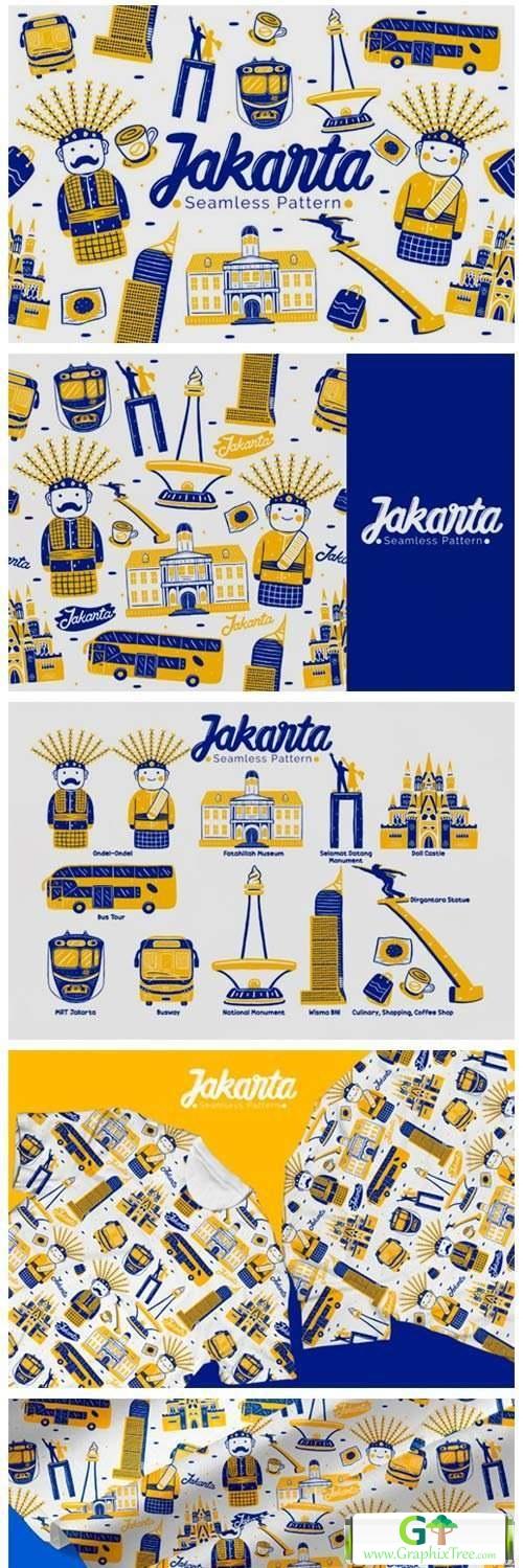 Jakarta Seamless Pattern [Vector] [Textures & Patterns]