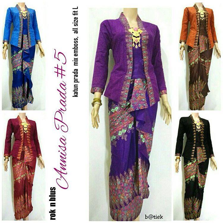 Model Rok Lilit Blouse Batik Anisa Prada