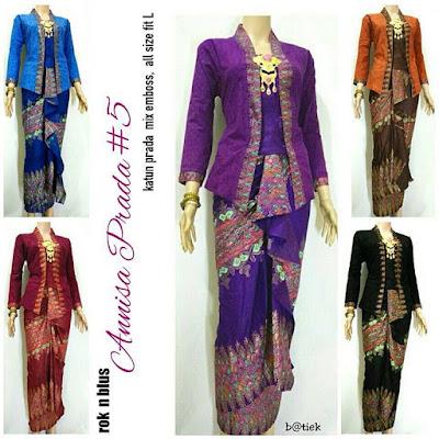 Rok dan Blouse Batik Anisa motif prada
