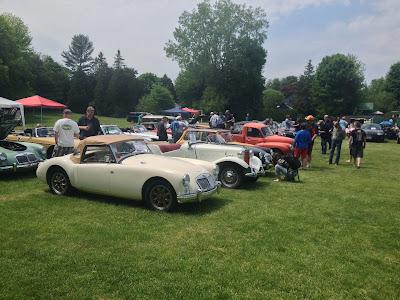 British Car Show White Classic BMC MGB