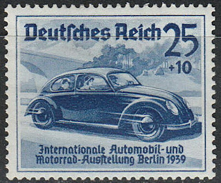 Volkswagen Beetle German Reich stamp