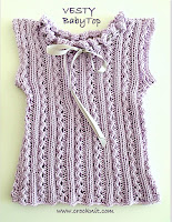 free knit patterns, how to knit, baby top, vest, sleeveless,