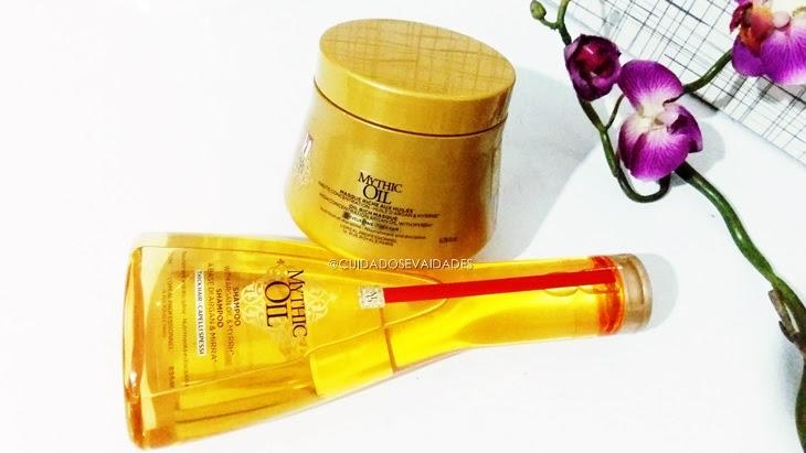 Shampoo e Máscara Loreal Mythic Oil