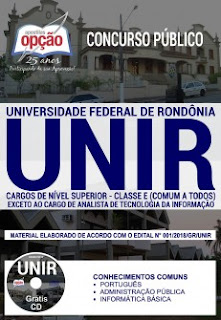 Baixar Apostila Concurso UNIR 2018 PDF Download