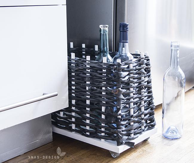 Ynas Design Blog | Flaschencontainer | DIY | Fahrradschlauch
