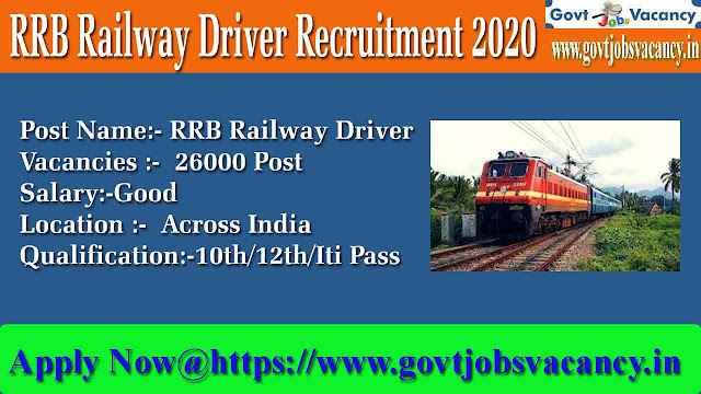 RRB Railway Driver Recruitment 2020 Apply 26000-rrb bhopal