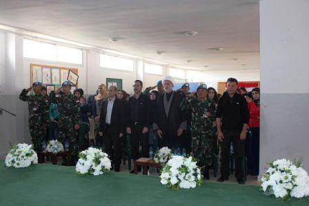 Satgas Indobatt Berikan Bantuan Sarana Pendidikan di Lebanon Selatan