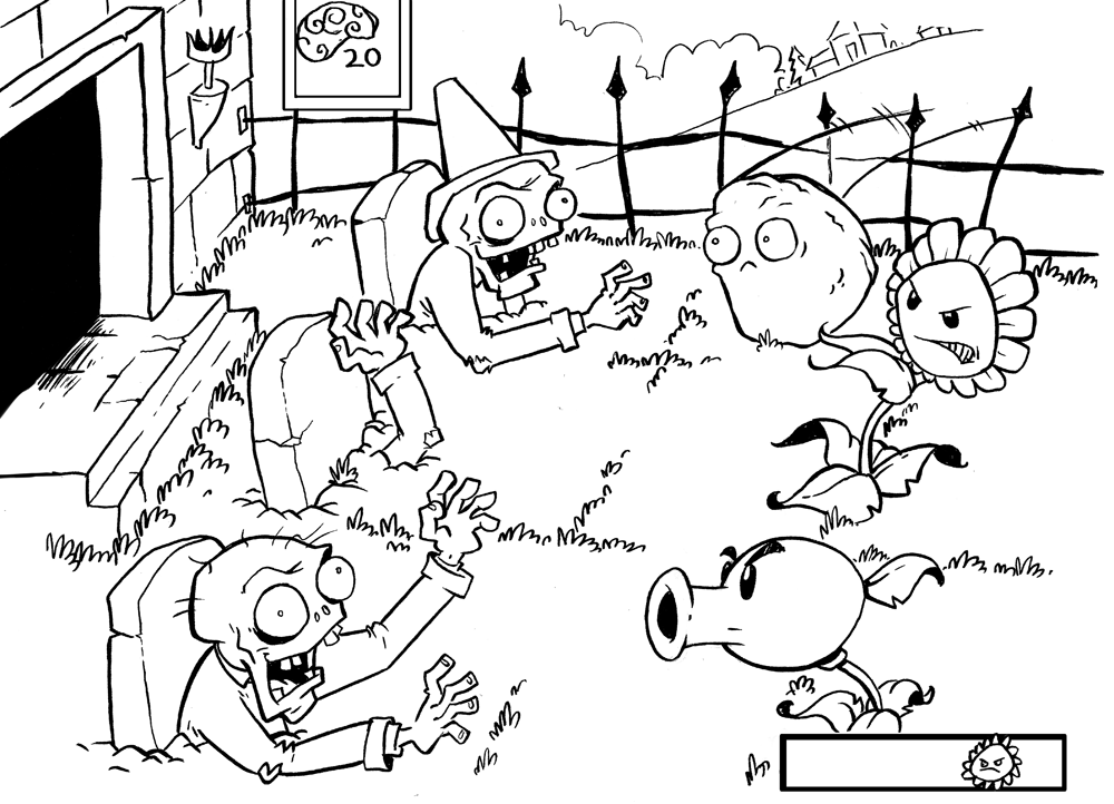 desenhos planta vs zumbis para colorir gratis news