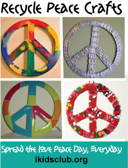 Peace Day Crafts and Peace Ideas for Peace Day and Every day.  Spread the love!