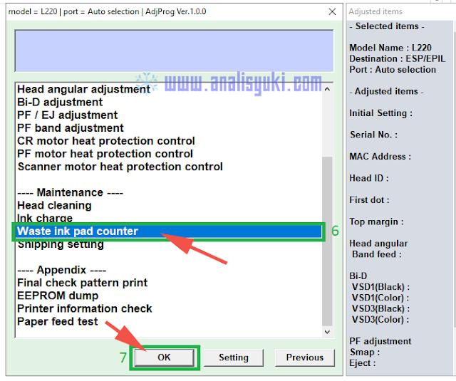 Cara Reset Printer Epson L220 Lengkap dengan Gambar