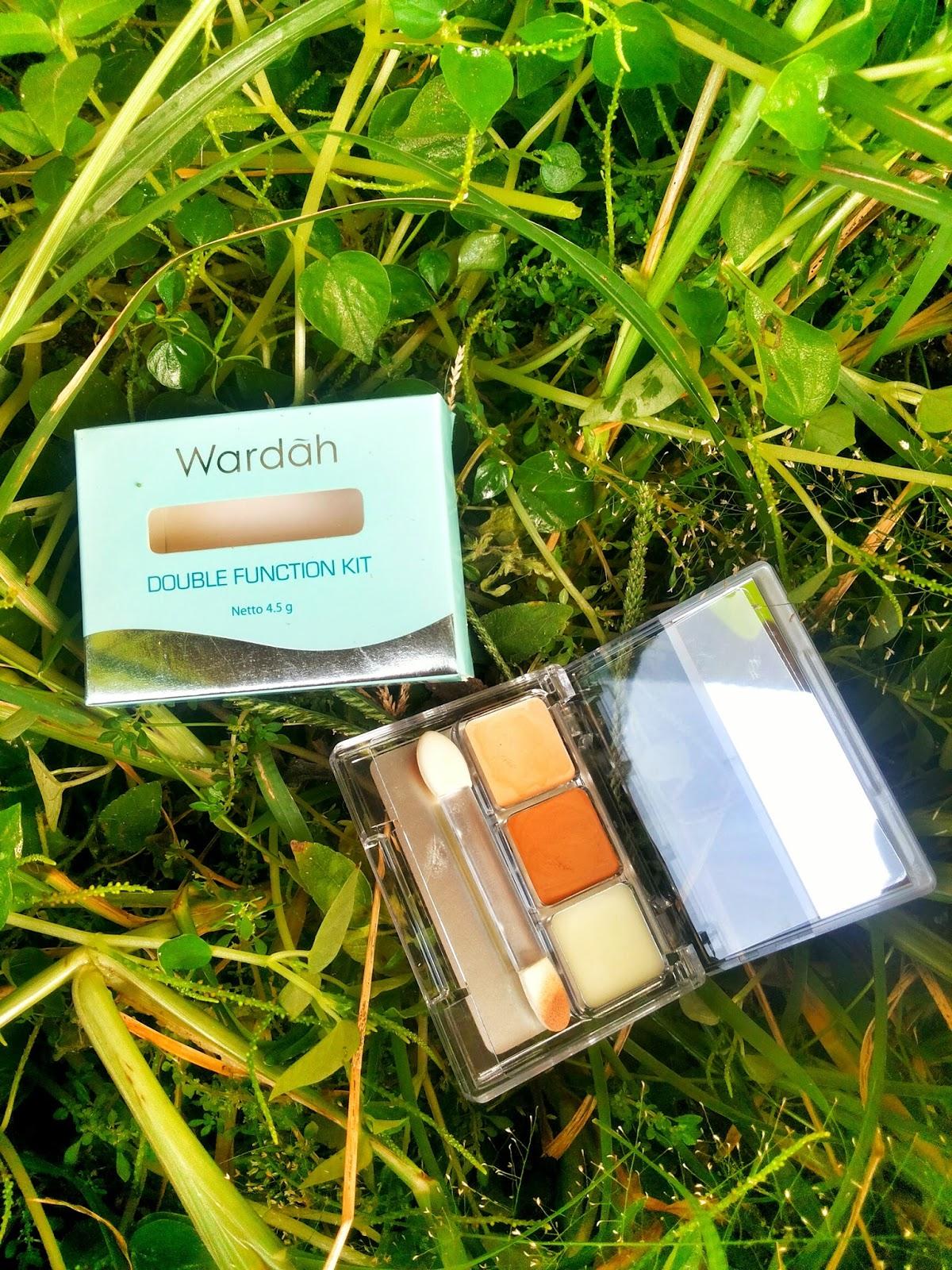 Cerita Cha Make Up Natural Pakai Wardah Double Function Kit 45 G