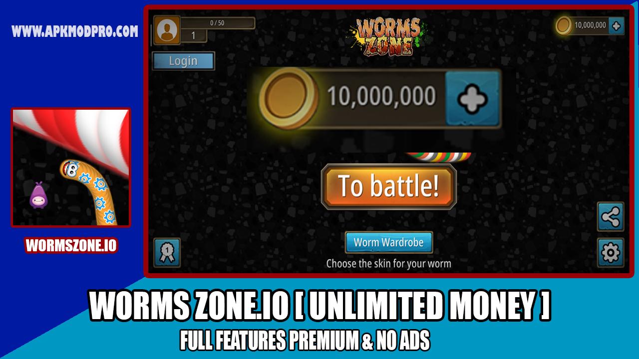 Download Worms Zone.io - Zona Cacing MOD APK ( Unlimited Money ) Terbaru 2020