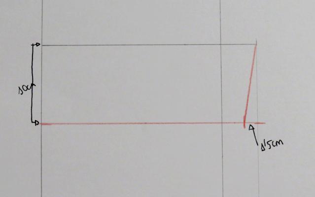Marcada de 1,5 cm en el bajo por la zona del tiro