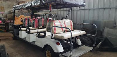 Jual mobil golf car delapan seat bekas