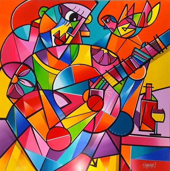 Красочные и геометрические полотна. Julien Raynaud