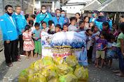 KNPI Sekotong Salurkan Donasi Kepada Korban Puting Beliung Di Desa Taman Ayu
