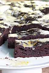Valrhona Chocolate Snacking Cake w/ Mandarin Orange Lemon Glaze (GF) (DF)