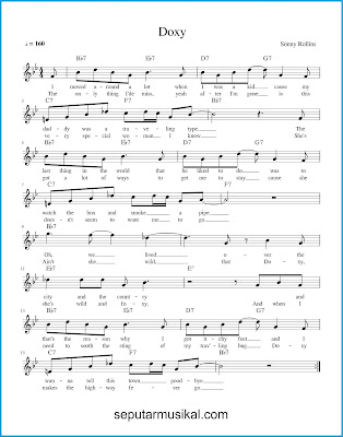 Doxy chords jazz standar