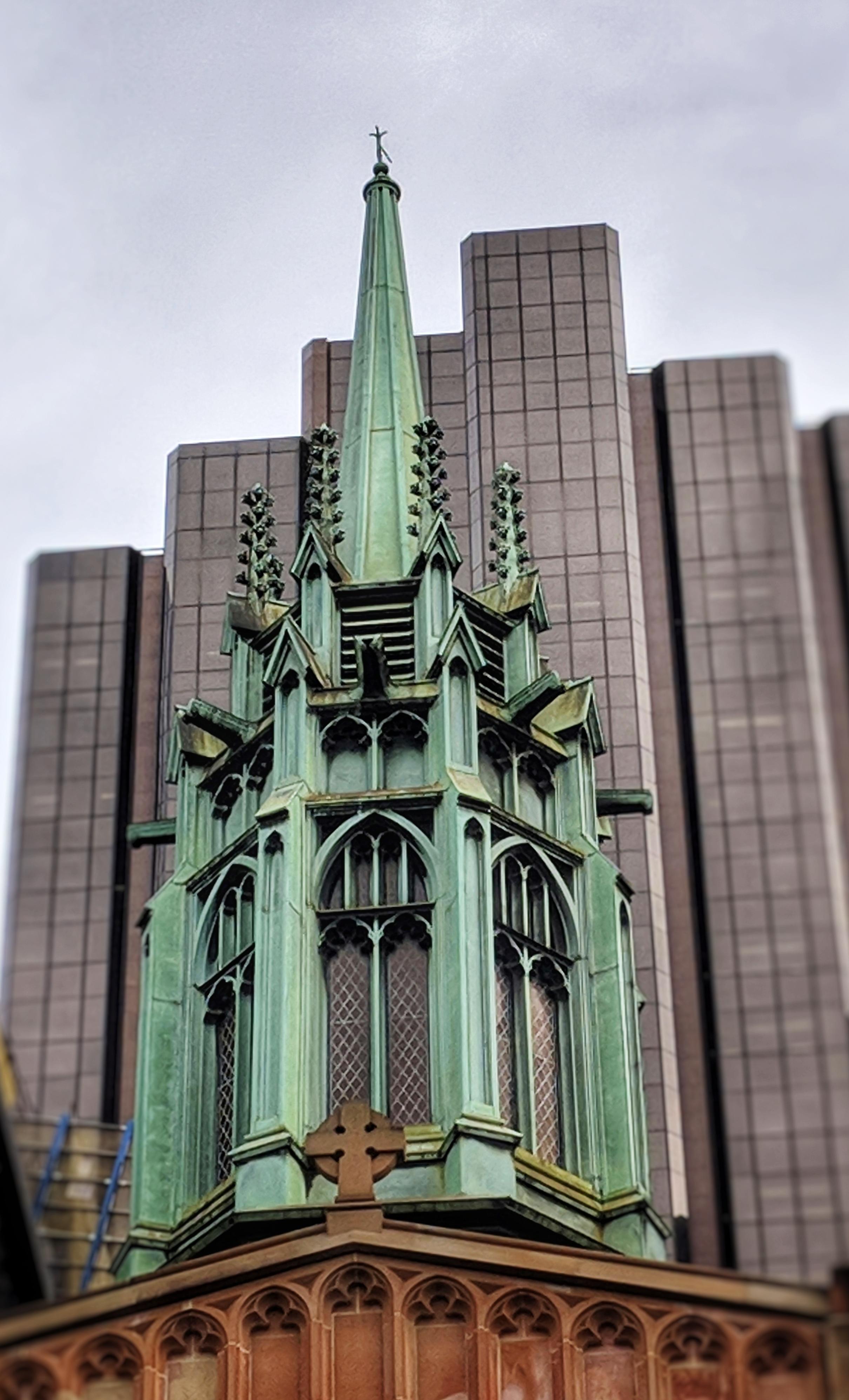 St. Stephen's Uniting Church spire (Sydney, Australia)