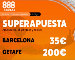 888sport superapuesta liga Barcelona vs Getafe 15 febrero 2020
