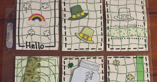 Pocket Letters from March St Patrick's Day Themed