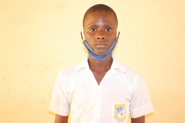Face Of 15-Year-Old Niger Student Who Wrote Fake Threat Letter that thw school will be attacked by Kidnappers