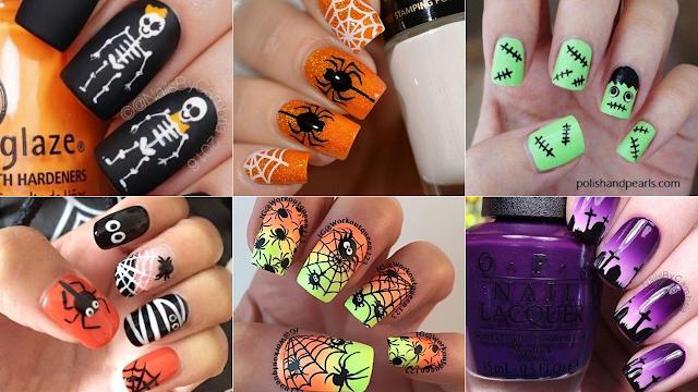 inspirações de unhas halloween