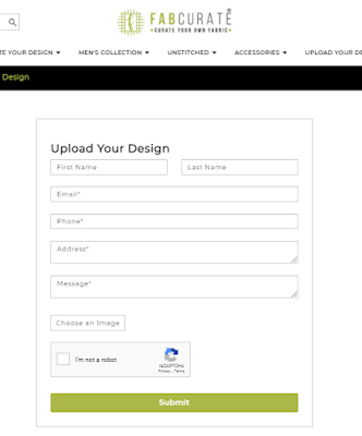 uploading designs at Fabcurate