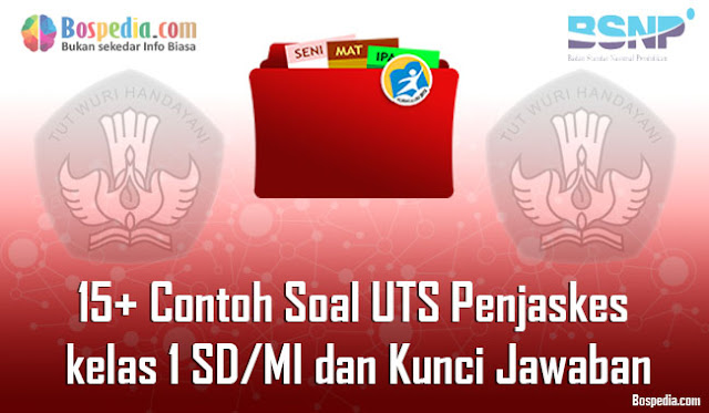 15+ Contoh Soal UTS Penjaskes kelas 1 SD/MI dan Kunci Jawaban