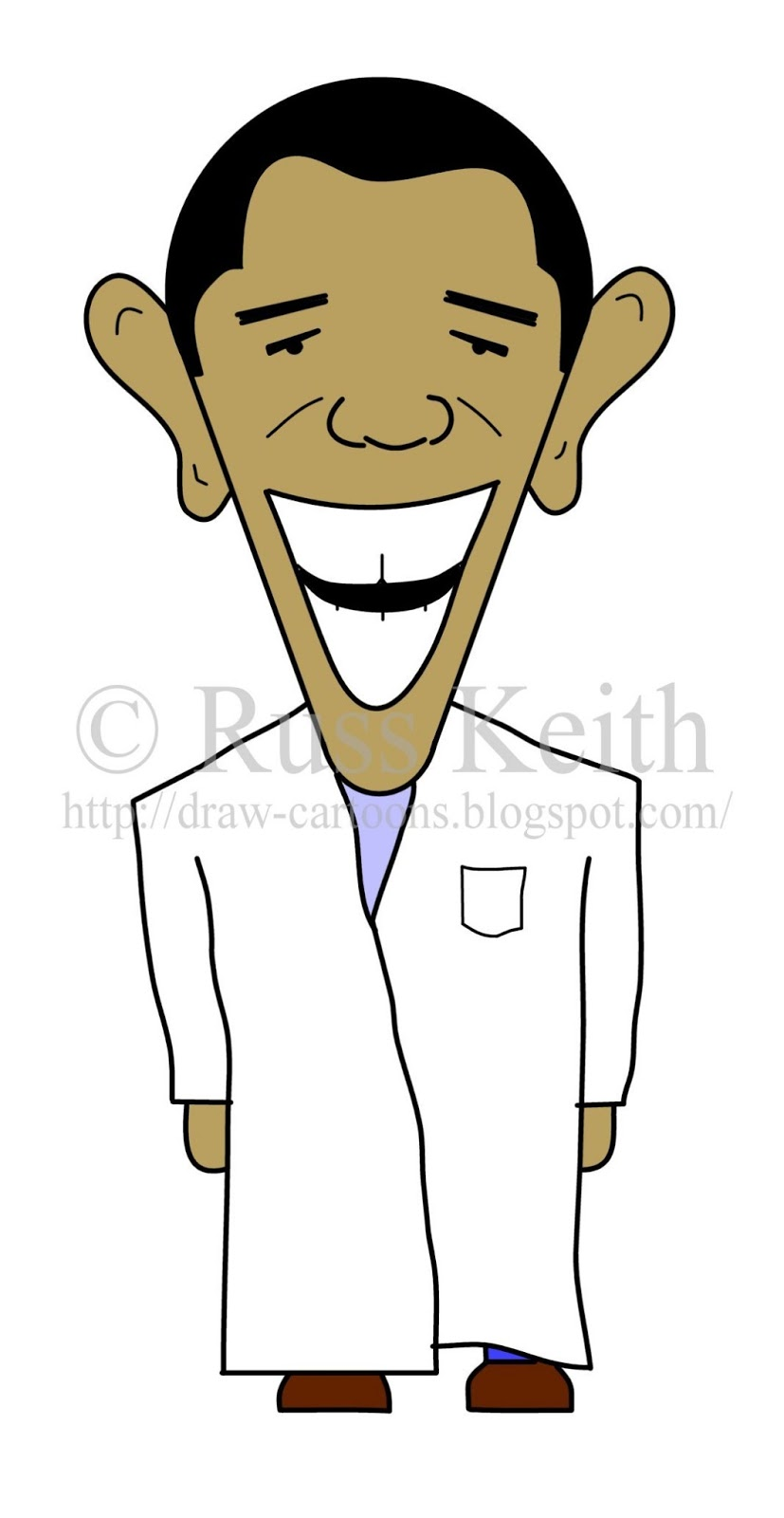 How To Draw Cartoons: President Obama