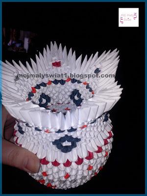 wazonik origami modułowe